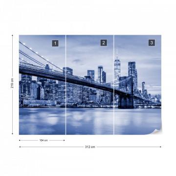 Brooklyn Bridge NYC in Blue