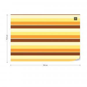 Brown, Yellow, And Orange Stripes Photo Wallpaper Wall Mural