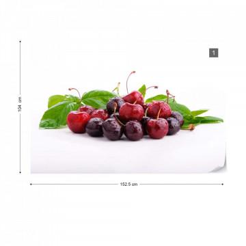 Cherries Photo Wallpaper Wall Mural