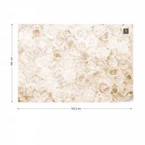 Floral Faded Vinage Sepia