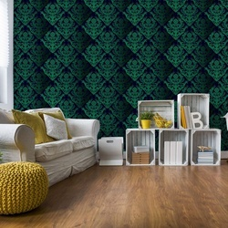 Floral Pattern Green Photo Wallpaper Wall Mural