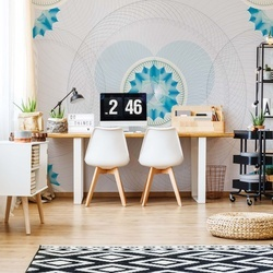 Floral Pattern With Circles Photo Wallpaper Wall Mural