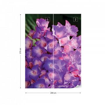 Flowers Hydrangea Purple Photo Wallpaper Wall Mural