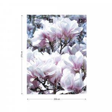 Flowers Magnolia Photo Wallpaper Wall Mural