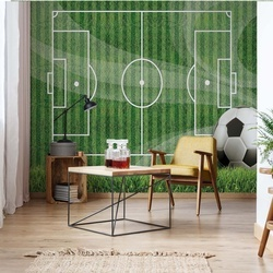 Football Pitch Photo Wallpaper Wall Mural