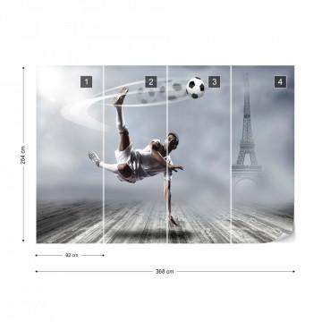 Football Player Paris Photo Wallpaper Wall Mural