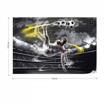 Football Player Stadium Photo Wallpaper Wall Mural