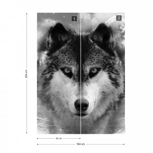 Forest Wolf In The Mist Photo Wallpaper Wall Mural