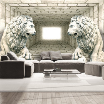 Fototapet autoadeziv - Chamber of lions
