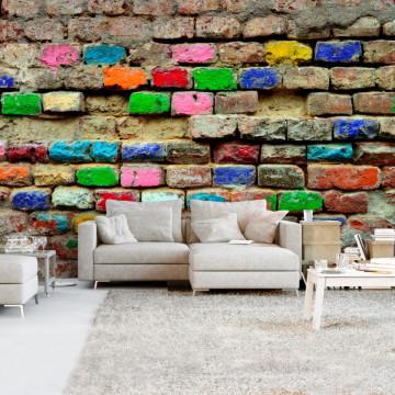 Fototapet autoadeziv - Colourful Bricks