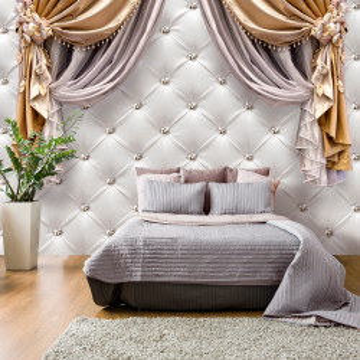 Fototapet autoadeziv - Curtain of Luxury