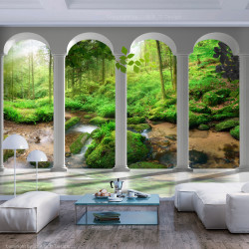 Fototapet autoadeziv - Pillars and Forest