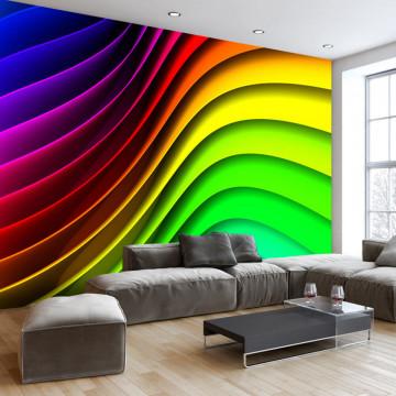 Fototapet autoadeziv - Rainbow Waves