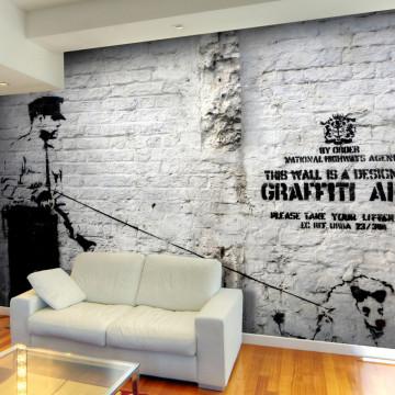 Fototapet - Banksy - Graffiti Area