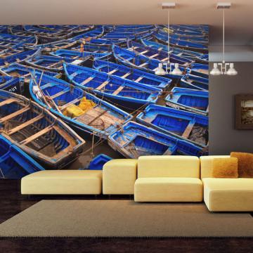 Fototapet - Blue fishing boats