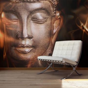 Fototapet - Buddha. Fire of meditation.