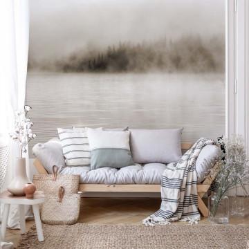Fototapet - Ceață peste Lac – Sepia