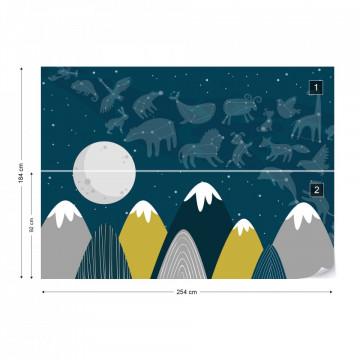 Fototapet - Constelații deasupra Munților