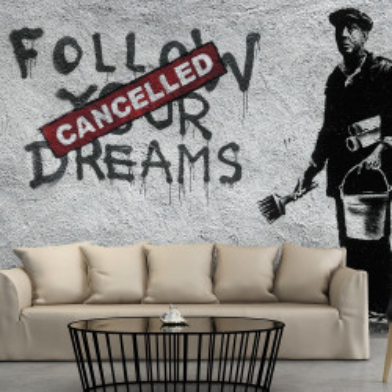 Fototapet - Dreams Cancelled (Banksy)