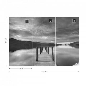 Fototapet - Drumul către Liniște – Alb-Negru