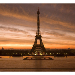 Fototapet - Eiffel tower at dawn