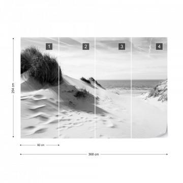 Fototapet - Fereastră spre Mare – Alb-Negru