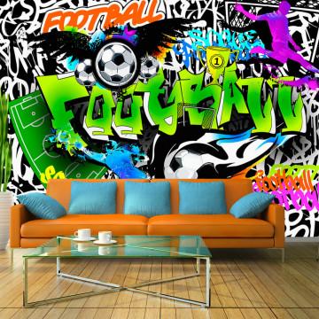 Fototapet - Football Graffiti