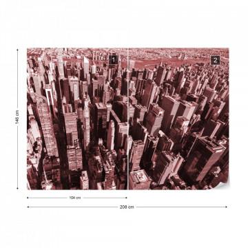 Fototapet - Jungla Urbană – Roșu