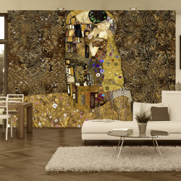 Fototapet - Klimt inspiration: Golden Kiss