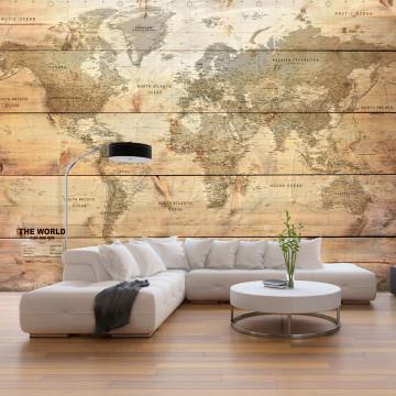 Fototapet - Map on Boards