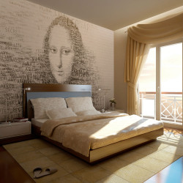 Fototapet - Mona Lisa's thoughts