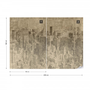 Fototapet - New York City – Efect Grafic Sepia