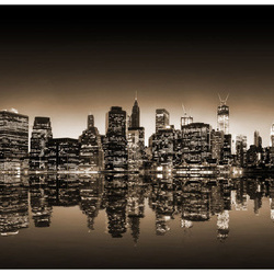 Fototapet - New York - sepia