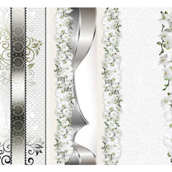 Fototapet - Parade of orchids in shades of gray