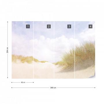 Fototapet - Plaja cu nisip fin - Aspect Vintage