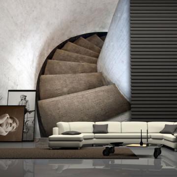 Fototapet - Spiral stairs