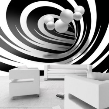 Fototapet - Twisted In Black & White
