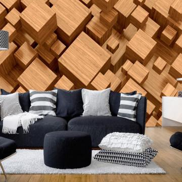 Fototapet - Wooden Maze