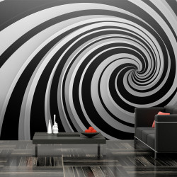 Fototapet XXL - Black and white swirl