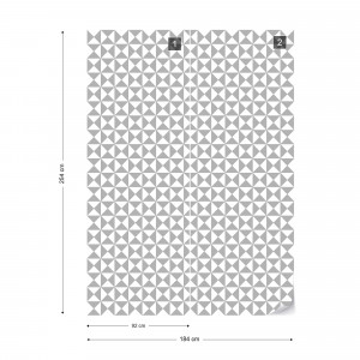 Geometric Pattern Grey Photo Wallpaper Wall Mural