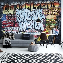 Graffiti Street Art Stateside Kitchen Photo Wallpaper Wall Mural