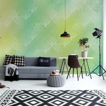 Green And Yellow Abstract Texture Photo Wallpaper Wall Mural