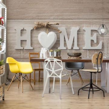 Home Wood Planks Farmhouse Chic Photo Wallpaper Wall Mural