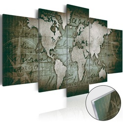 Imagine pe sticlă acrilică - Acrylic prints – Bronze map III
