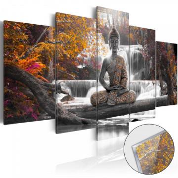 Imagine pe sticlă acrilică - Autumnal Buddha [Glass]