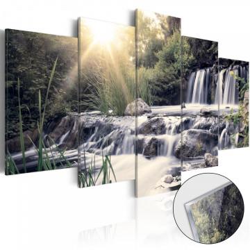 Imagine pe sticlă acrilică - Waterfall of Dreams [Glass]