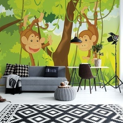 Jungle Monkeys Photo Wallpaper Wall Mural