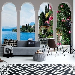 Lake 3D Archway View Photo Wallpaper Wall Mural