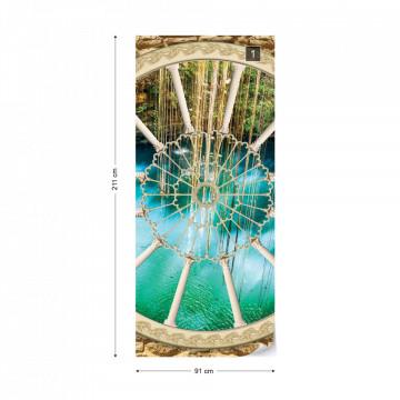 Lake Ornamental Window View Photo Wallpaper Wall Mural