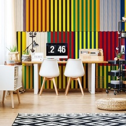 Light And Coloured Verticals Photo Wallpaper Mural